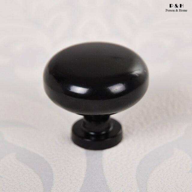 Nuevas llegadas Hardware muebles dormitorio cocina Knob negro manija ...