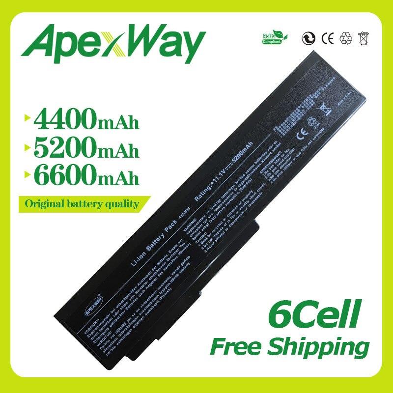 Apexway Batterie D'ordinateur Portable Noir Pour Asus A32-N61 A32-M50 A33-M50 N53J N61J N61jq N61jv n61vg N61 n61d A32 M50 M51 M60 m70 G51J