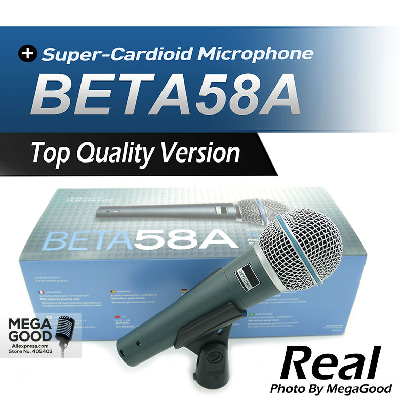 Free Shipping Top Quality Version Beta 58a Vocal Karaoke Handheld Dynamic Wired font b Microphone b