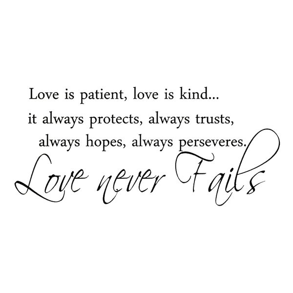 Love Is Patient Love Is Kindit Always Protects Always Trusts