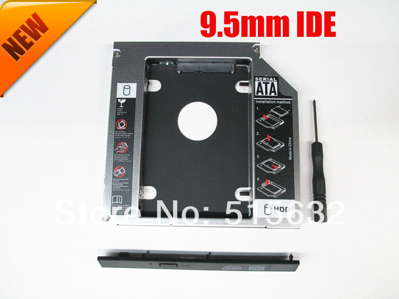 NEW STYLE PATA IDE 2nd HDD Hard Driver Caddy 9.5mm For HP Compaq 2510p Nc2400 Multibay New