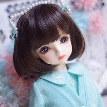 BJD кукла парики темно-коричневый гриб прическа груша вьющиеся головка для 1/3 1/4 1/6 1/8 BJD DD SD MSD YOSD кукла высокотемпературный провод