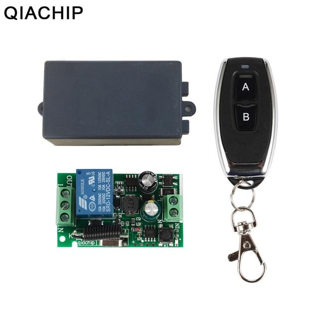 QIACHIP 433 МГц Универсальный беспроводной пульт дистанционного управления AC 85 в 110 В 220 В 1CH релейный модуль приемника и RF 433 МГц пульт дистанционного управления s
