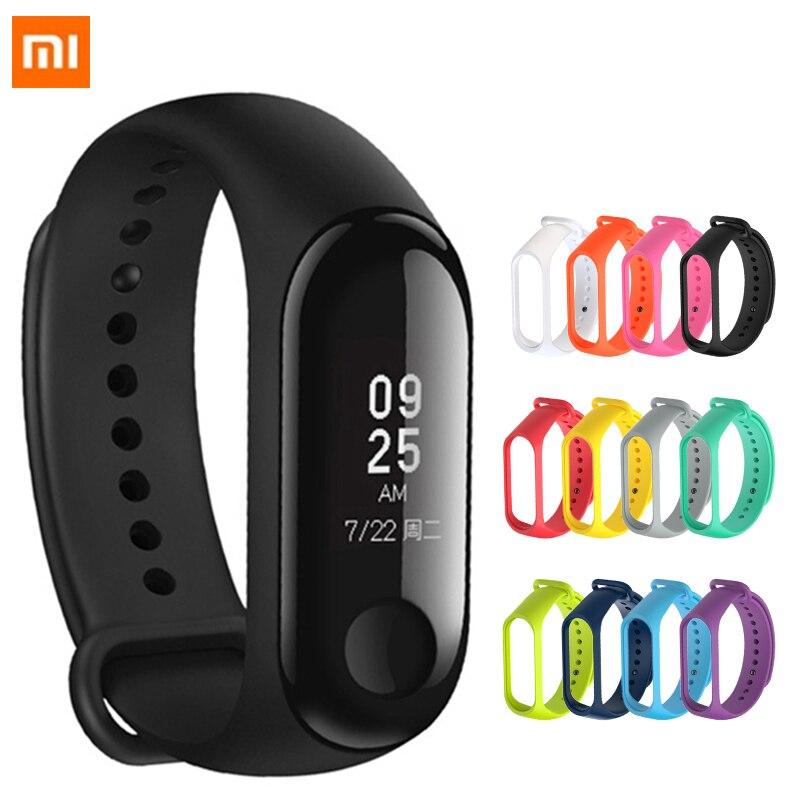 Silicone Strap Mi Band 4 Accessories Pulseira Miband 3 4 Strap Replacement Silicone Wriststrap For Xiaomi Mi4 Mi3 Smart Bracelet