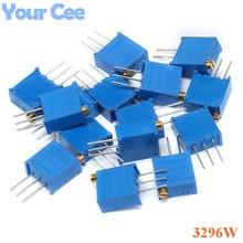 15values*1pc 3296 Potentiometers Kit 3296W MultiTurn Trimmer Adjustable Precision Potentiometer 3296W Variable Resistors