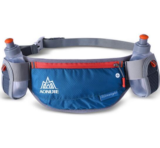 AONIJIE Running Adjustable Running Marathon Cycling Waist Pack Belt Bum Bag Storage Pockets With 2 Water Bottle