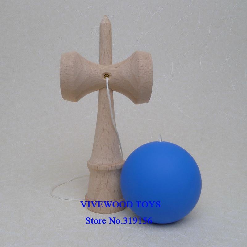 Резиновая кендама, Традиционная японская Kendama 18 см Kendama(резиновая краска, лучшее трение) из бука, Pro Kendama - Цвет: Blue Rubber Kendama