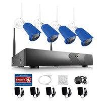 ANNKE 4CH 960P Wireless NVR CCTV System Wifi 1 3MP IR Outdoor P2P IP Camera Waterproof