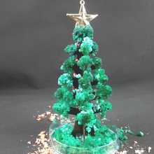 2019 17cm H DIY Visual Green Magic Growing Paper Crystals Tree Magical Grow Funny Christmas Trees Novelty Kids Toys For Children