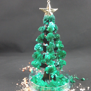 2020 17cm H DIY Visual Green Magic Growing Paper Crystals Tree Magical Grow Funny Christmas Trees Novelty Kids Toys For Children
