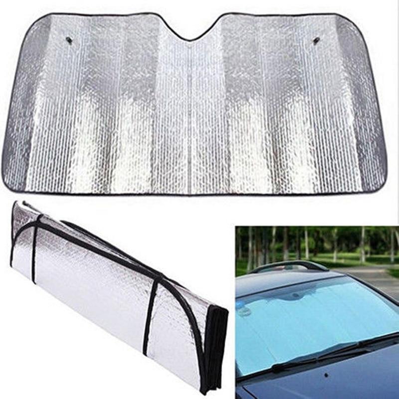 1Pc Foldable Universal Car Windshield Front Visor Heat Cover Front Rear Block Window Screen Sun Shade Reflective Sunshade