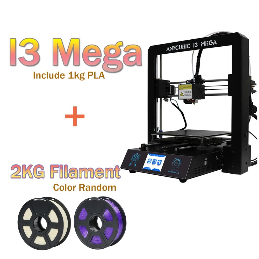Büroelektronik Nett Anycubic I3 Mega 3d Drucker Kit Extra 1 Kg Pla Filament Volle Metall Rahmen Plus Größe Touch Screen 3d Drucker Kit Impresora 3d Offensichtlicher Effekt