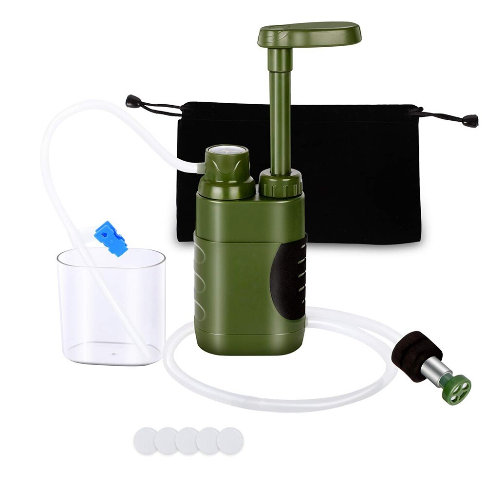 # Water Filter Straw Set Water Filtration System Survival Emergency Water Purifier for Family Preparedness Camping Hiking