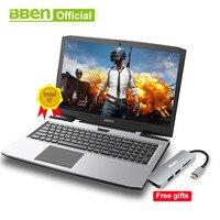 BBEN G16 ноутбука i7 7700HQ 15,6 дюймов игровой Тетрадь быстро Бег 32 GBRAM + 512 ГБ SSD + 2 ТБ HDD 1920x1080 FHD Wi Fi ips экран