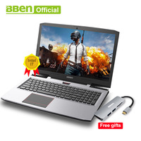 Bben g16 portátil i7 7700hq 15.6 polegadas jogos notebook rápido execução 32 gbram + 512 gb ssd 2 tb hdd 1920x1080 fhd wifi ips tela