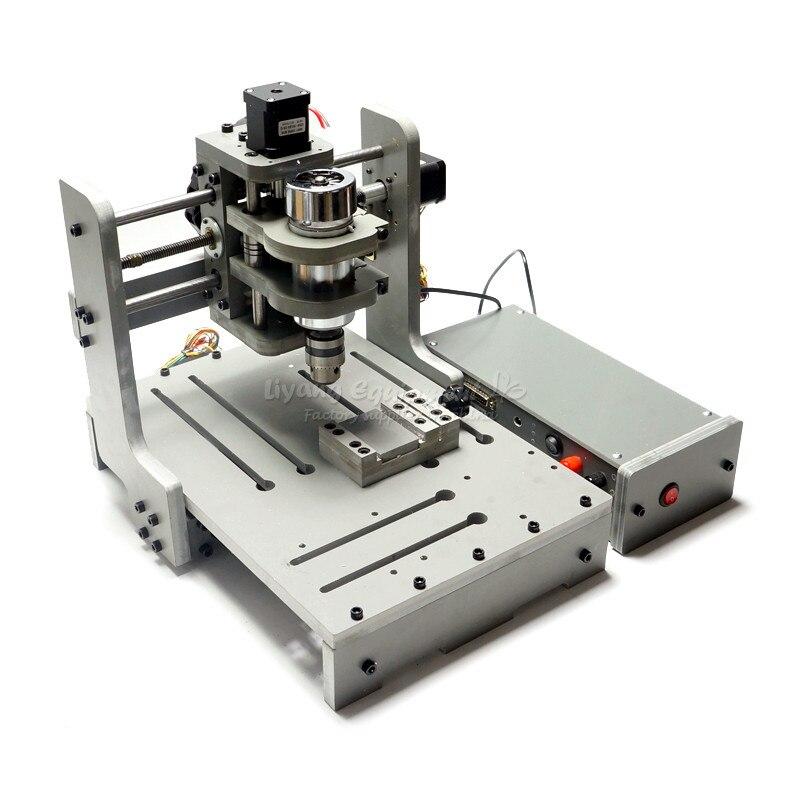Mini bricolage CNC machine 3020 mach3 contrôle 300w pcb fraisage bois routeur USB port - 5