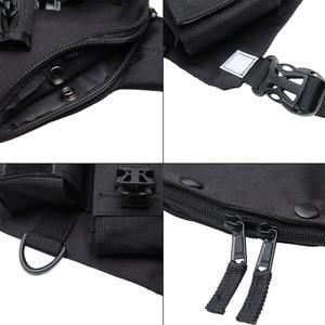 Image 4 - ABBREE Radio Carry Case Chest Harness Pocket Bag Holster for Baofeng UV 5R UV 82 UV 9R TYT TH UV8000D Yaesu Walkie Talkie