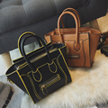 Women's Bags New Vintage Lady Smile Face Totes High Quality PU Handbags Fashion All-match Messenger Bags Leather Shoulder Bag