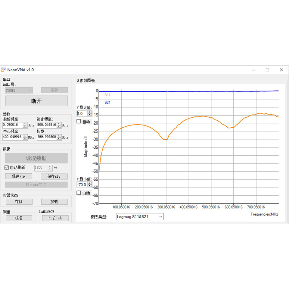 NanoVNA Vector Network Analyzer 50KHz-300MHz Antenna Analyzer 2 8 inch LCD  smith MF HF VHF UHF with battery