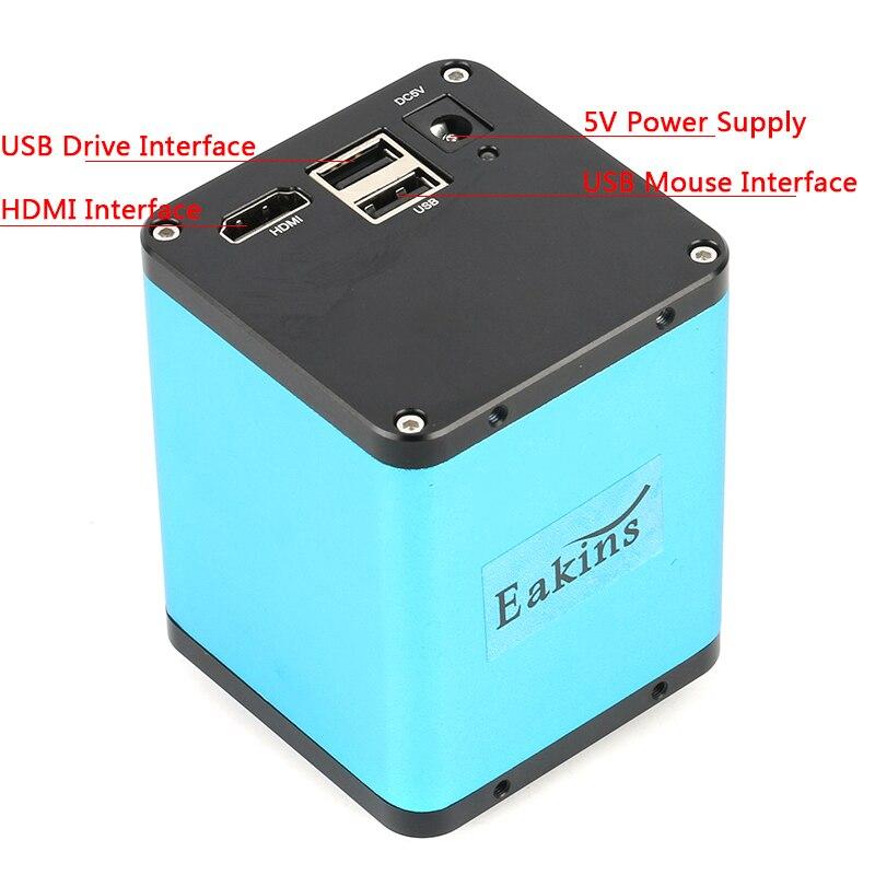 2019 Indústria de FHD 1080 P Câmera De Vídeo Microscópio Autofocus SONY IMX290 U Gravador de Disco CS C Montar a Câmera Para SMD PCB Solda