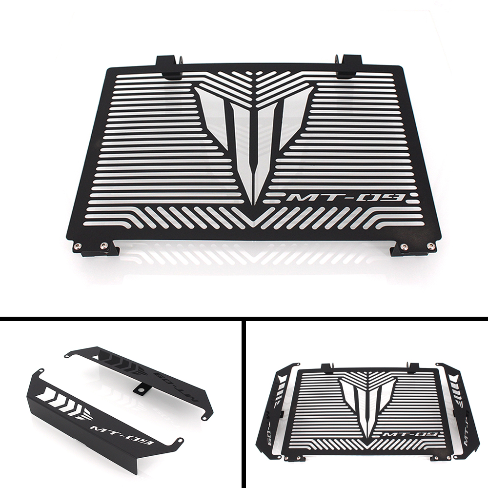 Black Motorcycle Accessories Radiator Guard Protector Grille Grill Cover For YAMAHA MT 09 MT-09 MT09 TRACER Free shipping for yamaha mt07 mt 07 2014 2015 engine radiator bezel grille protector grill guard cover protection black motorcycle accessories