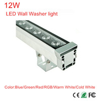10pcs/lot 12W LED wall washer lights,RGB and single color Led outdoor light, AC 12V,IP65 waterproof 0.5M length