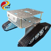 Original DOIT Double Decker Robot Tank Car Chassis T300 from DIY Crawler Tracked Model Robotic Experiment Functional Realization