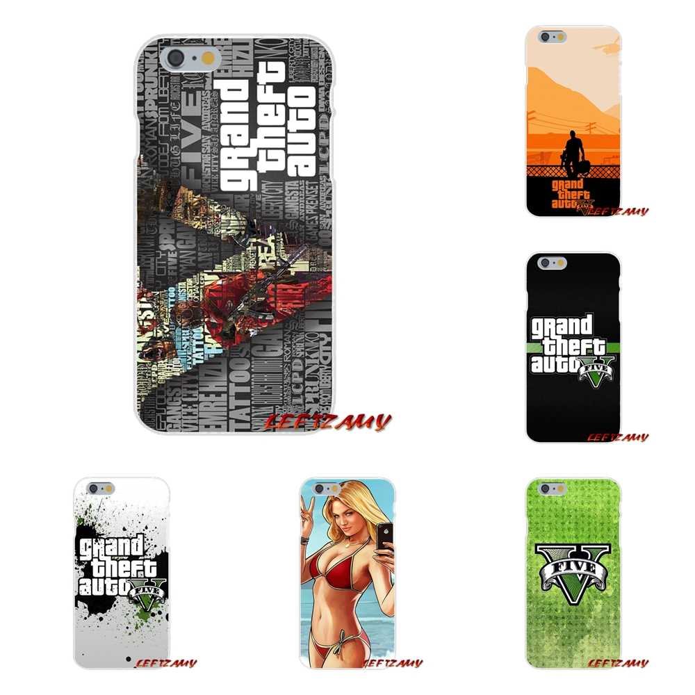 GTA grand vol auto 5 V san andreas pour Apple iPhone X XR XS MAX 4 4 S 5 5 S 5C SE 6 6 S 7 8 Plus ipod touch 5 6 étuis en Silicone