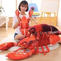 Big size Simulation Lobster Plush Toy Office Sofa Cushion Doll Creative Birthday Gift
