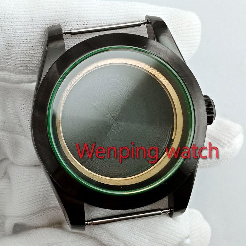 Mingzhu Dg 2813/3804 Miyota 8205/8215 Bewegung P900 Zifferblätter 40mm Schwarz Uhr Gehäuse Fit Eta 2836 Uhrenzubehör