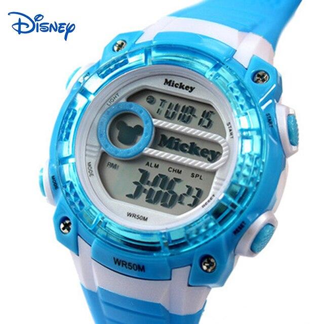 Disney Kids Quartz Watches Digital-watch Famous Brand 50M Water Resistant Girls Boys Watch Quartz saat kol bayan montre cuir