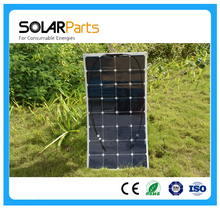 Solarparts 1x 100W fexible solar panel 12V solar cell kit module system DIY yacht boat marine RV battery charging USA outdoor
