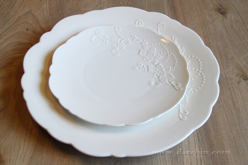 Free Shipping High Quality Featheredge Ceramic Plate Set in White Dishes Round Solid Plates Dishes European Style Factory Prices-in Dishes u0026 Plates from ... & Free Shipping High Quality Featheredge Ceramic Plate Set in White ...