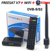 SATXTREM Freesat V7 HD Với 1 Năm Châu Âu Cccam máy chủ DVB-S2 vệ tinh Thụ Decoder + USB WIFI 1080 p Satellite Receiver