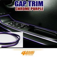 800cm Gap Trim Gape Car Interior Chrome Purple Decor Accessory Moulding Strip Line