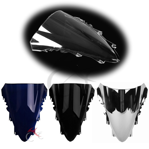 Motorcycle Windscreen Windshield Screen Double Bubble For YAMAHA YZF R1 YZF-R1 2007 2008 ram air intake tube duct for 2007 2008 yamaha yzf r1 yzf r1 silver 07 08 black