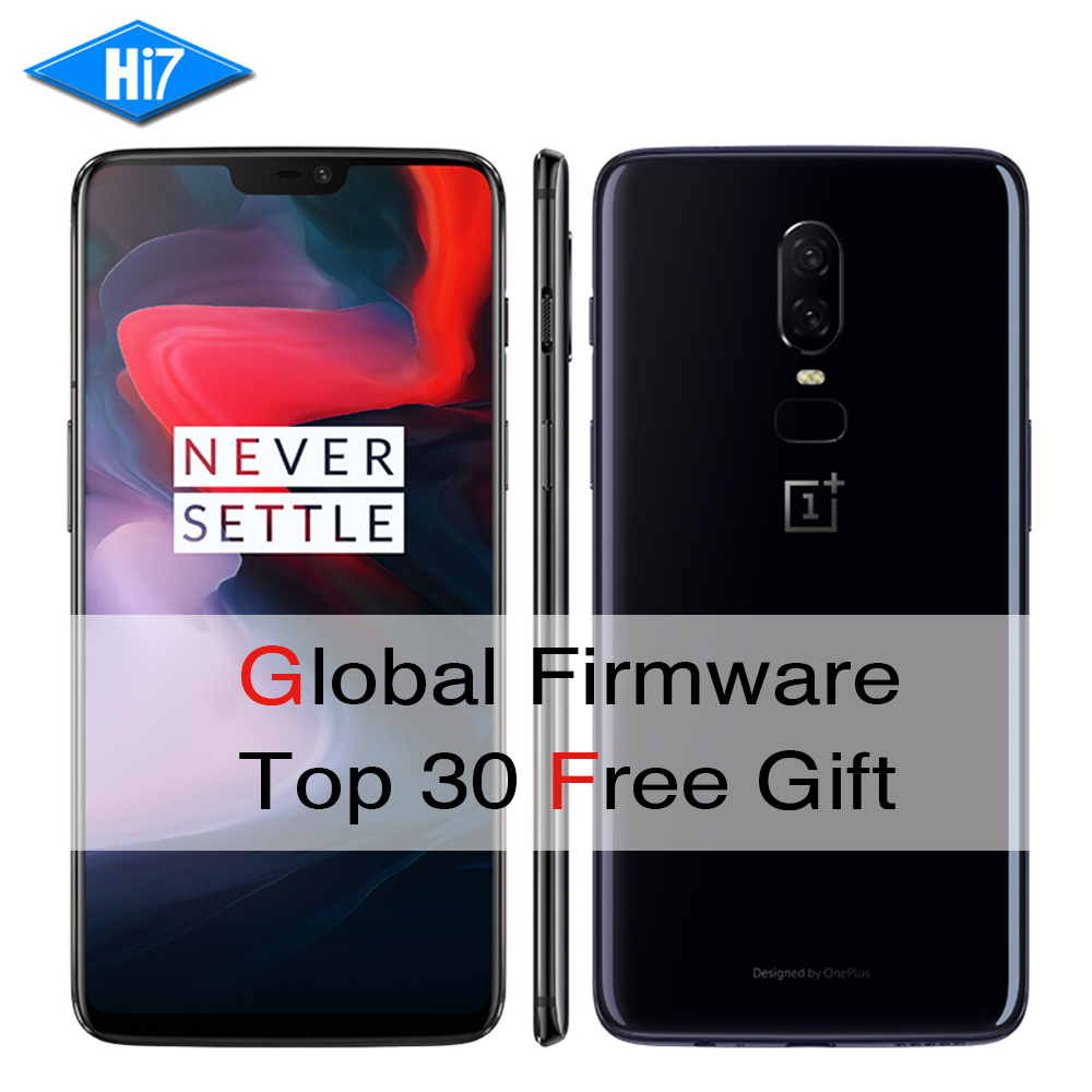 New OnePlus 6 6GB RAM 64GB ROM Dual Sim Octa Core AI Dual Camera 20MP+16MP Face Unlocked Android 8 Smartphone Mobile phone