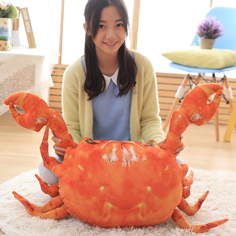 63cm plush toys Simulation big crab dolls animals plush stuffed toy crabs doll pillow cushions creative birthday gift girls cute