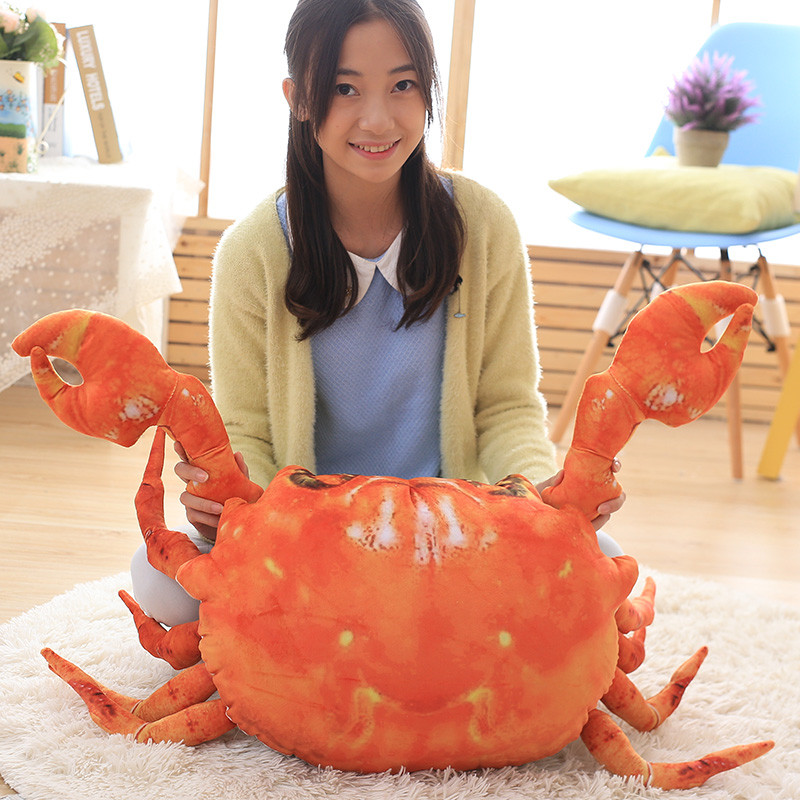 63cm plush toys Simulation big crab dolls animals plush stuffed toy crabs doll pillow cushions creative birthday gift girls cute big lovely simulation cow plush toy creative stuffed cow doll birthday gift about 75cm