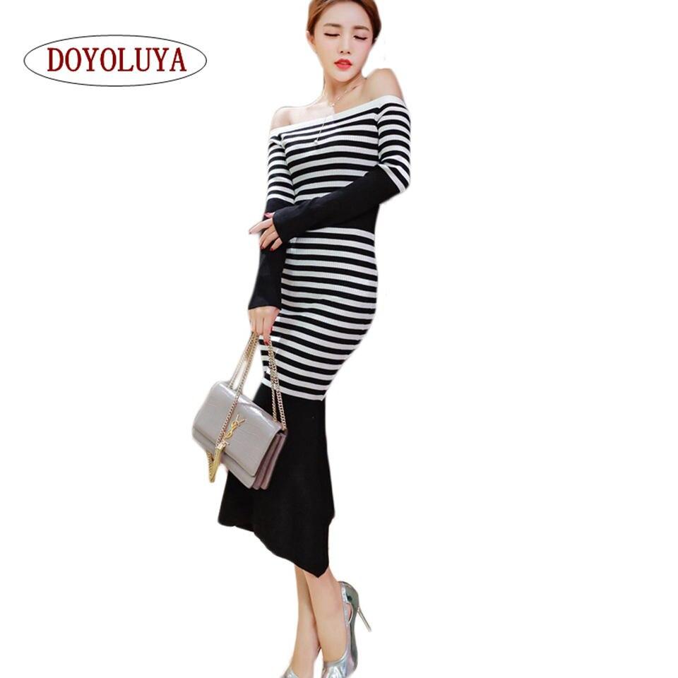 Online Get Cheap Black White Striped Sweater Dress -Aliexpress.com ...