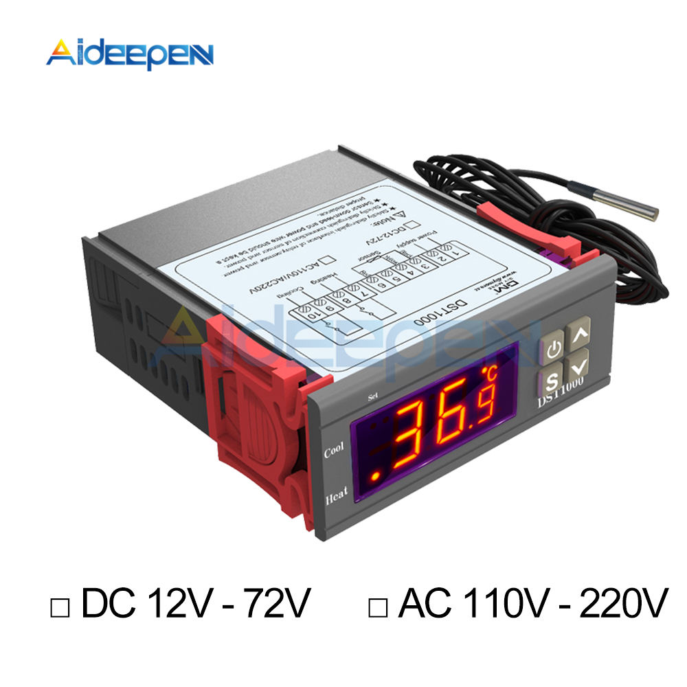 220V touch Digital LCD temperature Regler cooling heating switch Thermostat