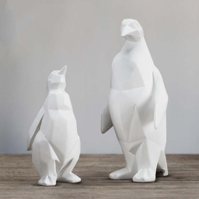 Online Shop Nordic Style Geometric Animal Sculpture White Geometric