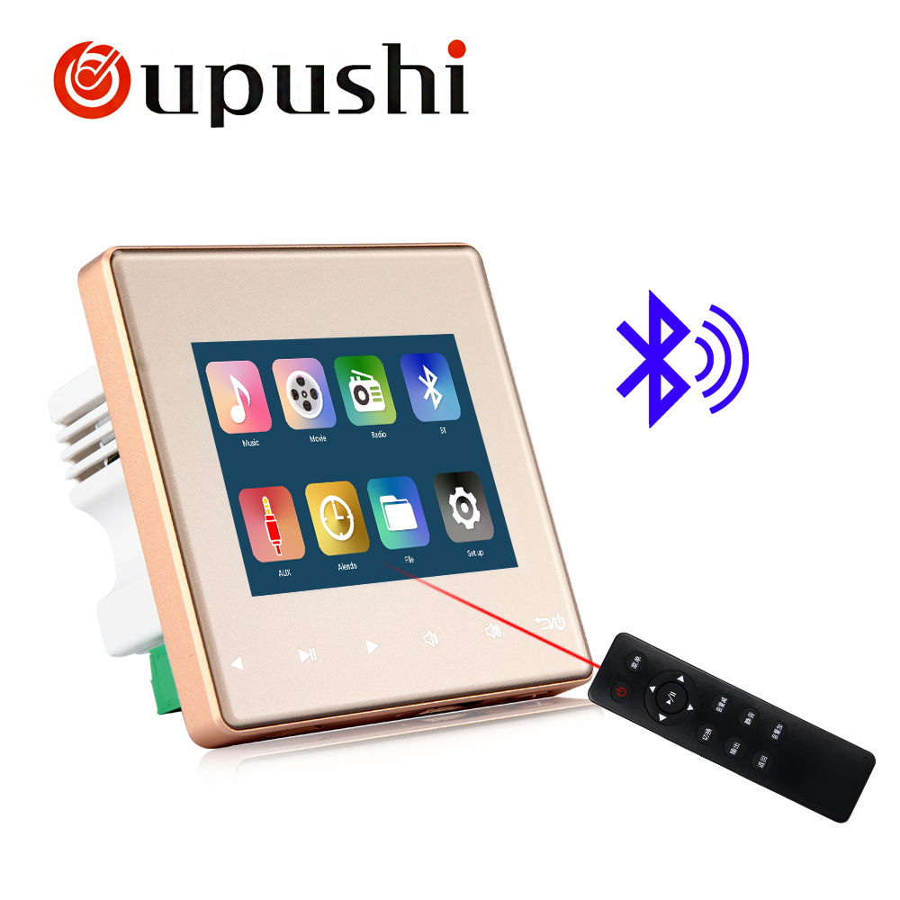Home Audio system,music system,Ceiling Speaker system,Bluetooth digital stereo amplifier, in wall amplifier with touch key
