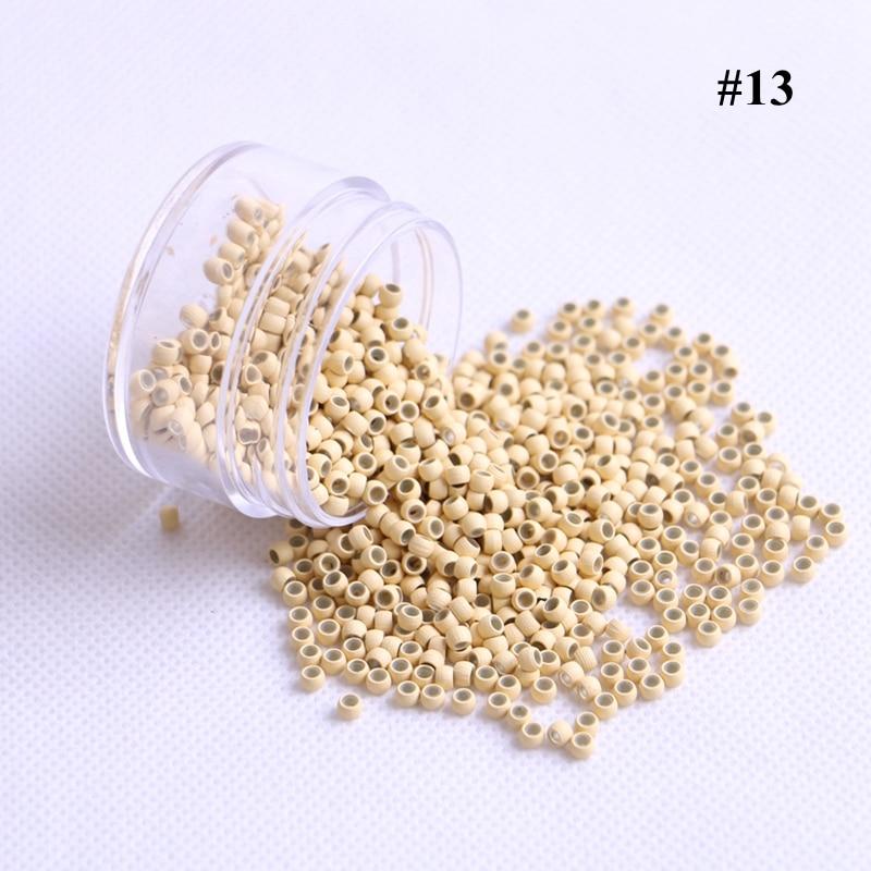 Links para Extensões de Cabelo Peças Lote Cor Loira Cobre Anéis Nano Silicone Beads 7 Cores Disponíveis 1000 – 2.9×1.6×2.0mm