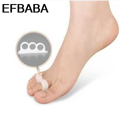 EFBABA 3 Hole Silicone Gel Insoles Hammer Toe Overlap Separation Orthopedic Shoes Insole Shoe Pad Inserts Accessories Chaussure