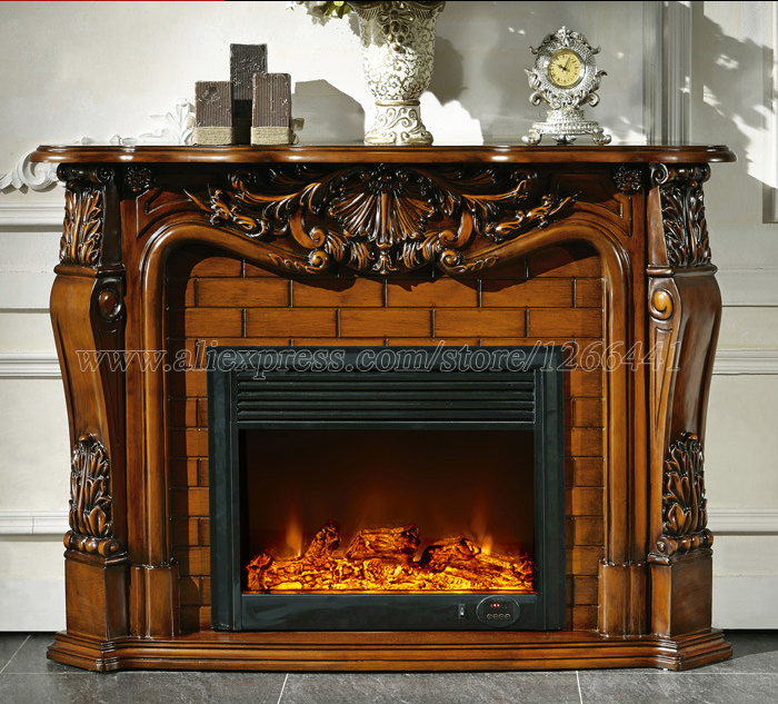 living room decorating warming fireplace wood fireplace mantel W148cm electric fireplace insert LED optical artificial flame hearth