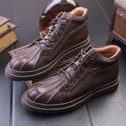 Кожаные мужские ботинки в английском стиле, модные рабочие ботинки в стиле ретро, Ботинки martin