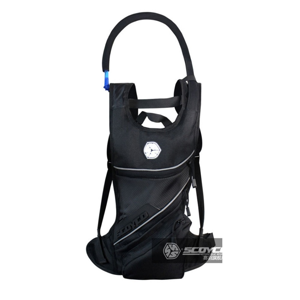 Motorcycle Backpack Bag Reflective Helmet Bag With Water Bag