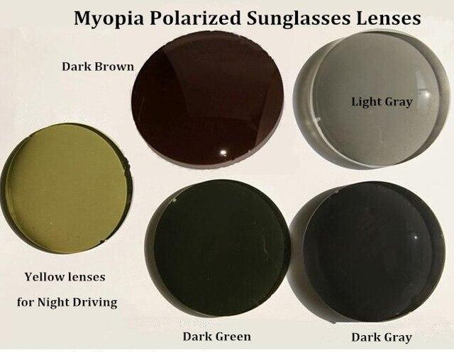 1.50 Index Myopia Lenses Anti Glare Polarized Prescription Glass for Driving and Fishing