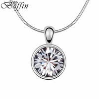 2015 Crystal Drop Necklace Made With Swarovski Elements Collier Femme Wedding Accessories